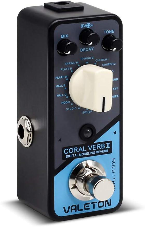 Valeton Coral Verb II Digital Reverb Guitar Effects Pedal