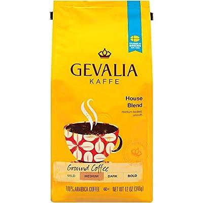 GEVALIA House Blend Coffee, Ground, 12 Ounce
