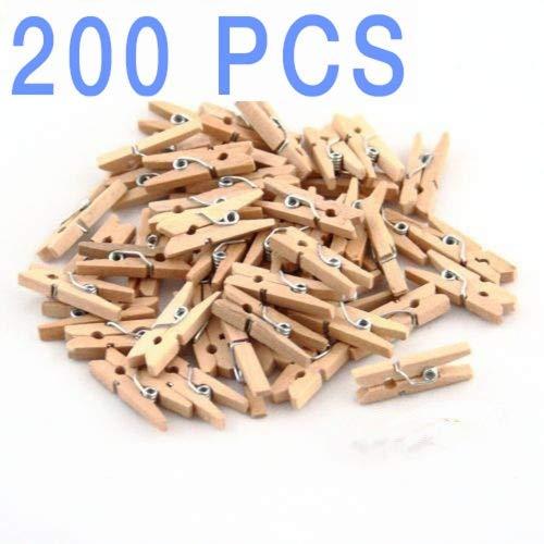 200 Mini Wooden Clothespins