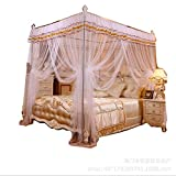 HEXbaby Mosquito Net for Bed - 4 Corner Canopy for Beds, Canopy Bed Curtains, Bed Canopy for Girls Kids Toddlers Crib, Bedroom Decor,200220cm