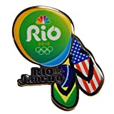 2016 NBC Rio Olympic Media Pin - USA & Brazil Flag Flip Flop Sandals