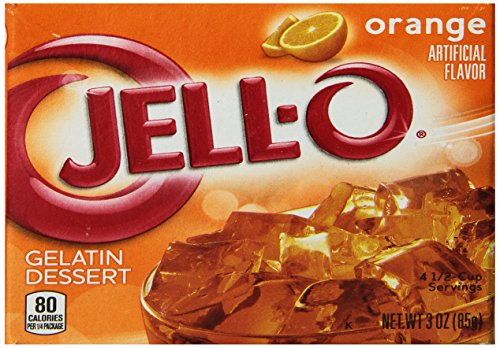 JELL-O Orange Gelatin Dessert Mix (3 oz Boxes, Pack of 24) (Best Grape Jello Shots)