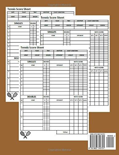 Tennis Score Sheet | Clay Court Tennis Score Sheet 100 Pages Tennis Match Championship