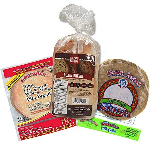 Keto Bread Box - Low Carb Bread, Low Carb Pita, Low Carb Tortilla, Keto-Friendly, 1g-4g Net Carbs