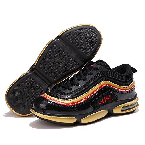 Shoes Afterburn ginnastica Lace Up Mens uomo Black Gold Scarpe da 2018 da Sneaker Sneaker Breathable Energy ETqWU