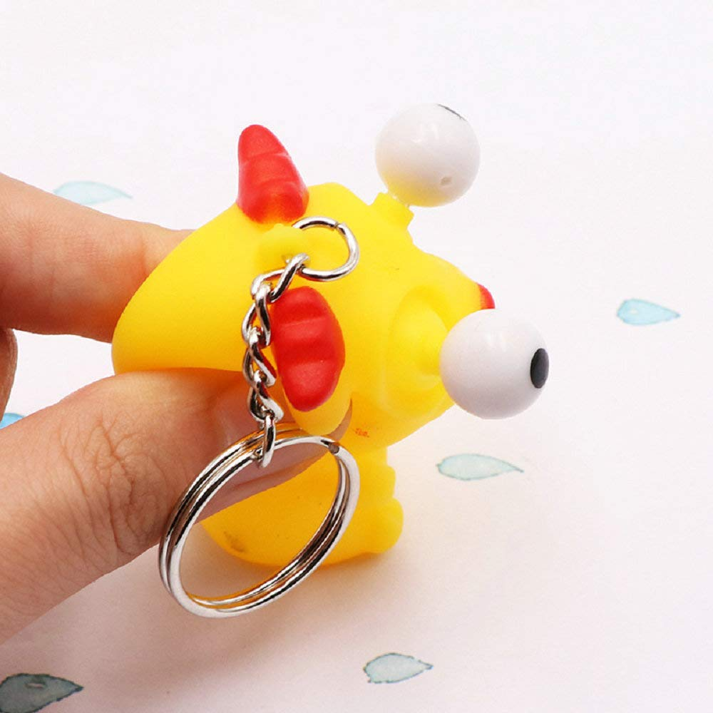 Cocobuy 3 Pack Fidget Toys Stress Relief Toys Squeezing Toys Keychain Mobile Chain Banana Squeeze Squeeze Bean Chicken Squeeze Stress Relief Toys Tricky Toys Color A