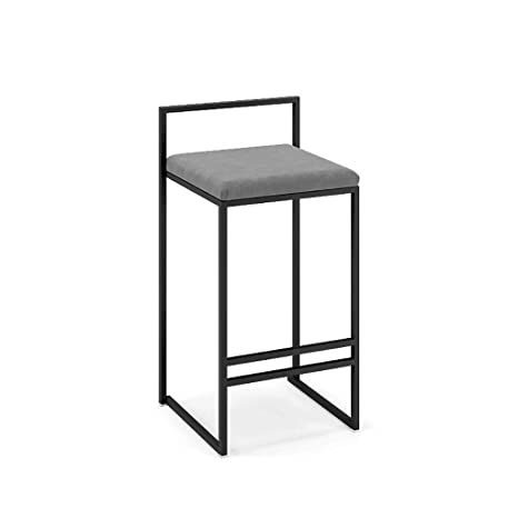 Remarkable Amazon Com Stylish Modern Square Metal Industrial Wind Bar Machost Co Dining Chair Design Ideas Machostcouk