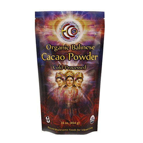 Earth Circle Organics Verified Raw Balinese Cacao Powder,...