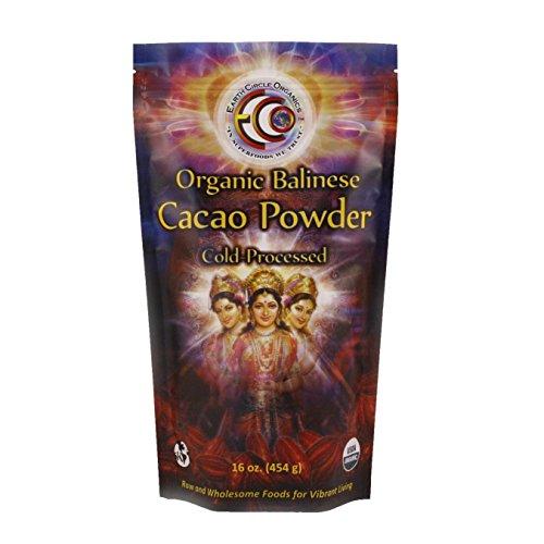 Earth Circle Organics Verified Raw Balinese Cacao Powder, 16-Ounce