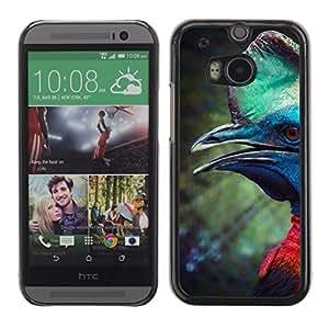 Caucho caso de Shell duro de la cubierta de accesorios de protección BY RAYDREAMMM - HTC One M8 - Prehistoric Mint Green
