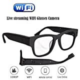 Live Streaming Glasses Camera 30M WIFI Glasses with Digital...