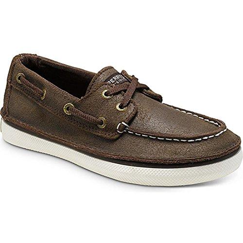 Sperry Top-Sider Cruz Boat Shoe ,Brown Leather,1.5 M US Litt