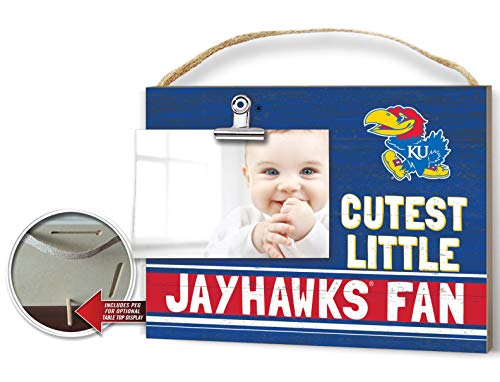 KH Sports Fan Clip It Colored Baby Logo Photo Frame Kansas Jayhawks