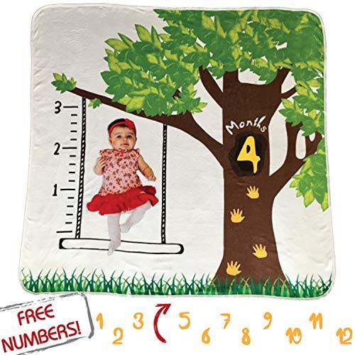 TinyLittleThing Baby Monthly Milestone Blanket