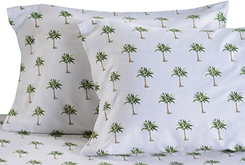 Panama Jack Palm Tree Sheet Set Bedding King Green