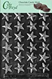 Cybrtrayd M124 Small Stars Chocolate Candy Mold with Exclusive Cybrtrayd Copyrighted Chocolate Molding Instructions