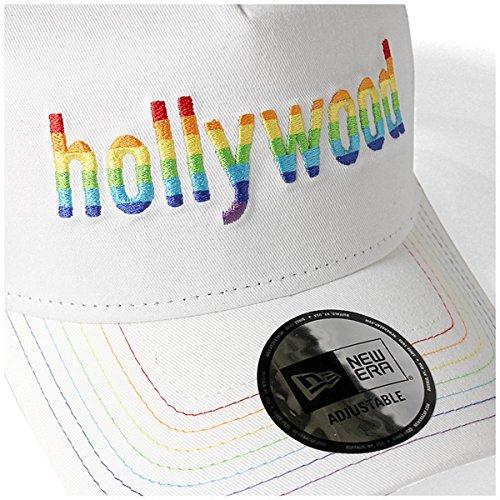 (ニューエラ) NEW ERA メッシュキャップ 9FORTY Aフレーム HOLLYWOOD RAINBOW ホワイト FREE (サイズ調整可能)