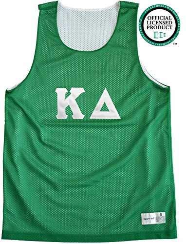 KAPPA DELTA Unisex Mesh KD Tank Top. White Sewn Letters, Various Colors