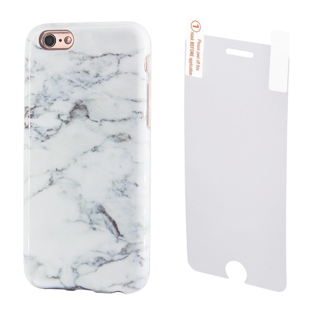 Marble iPhone Protective Tempered Protector Image 1