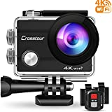 Crosstour Action Camera 4K WiFi Underwater 30M Remote Control IP68 Waterproof Case