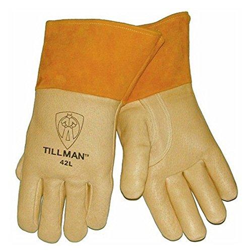 Pigskin Grain (Tillman 42 Top Grain Pigskin Foam Lined Thumb Strap MIG Welding Gloves, X-Large)
