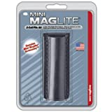 Maglite AM2A026 Plain Leather Holster for AA Mini (Black)