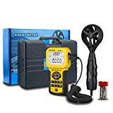 AOPUTTRIVER Digital Anemometer Handheld AP-846A CFM Pro Anemometer HVAC Wind Speed Meter with Backlight Max/Min/Avg Functions for Measuring Wind Speed Air Velocity Temperature Air Flow Meter