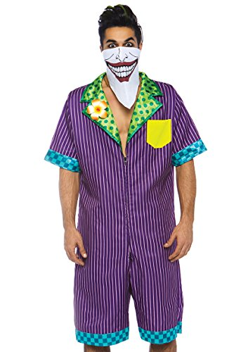 Leg Avenue Mens Super Villain Halloween Costume, Multi, Small/Medium