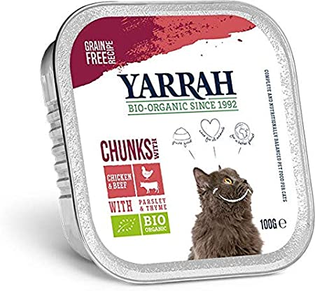 Yarrah - Adult Cat Beef Chunks with Parsley & Thyme Bio 16 x 100 g