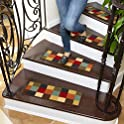 7-Pack Ottomanson Ottohome Collection Checkered Design Stair Tread