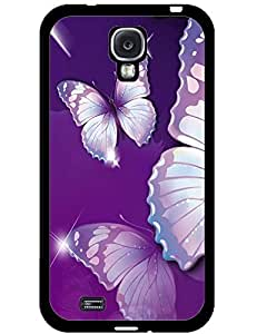 Hard Cover Case Purple Butterfly for Samsung Galaxy S4 I9500