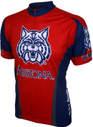 NCAA Arizona Cycling Jersey,Large, Red ()