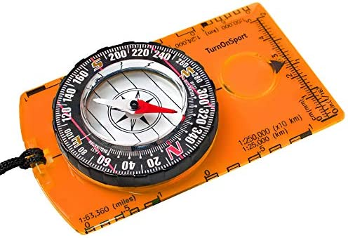 Magnifier Compass Boating Camping Hiking Army Scouts Reading Orienteering Map