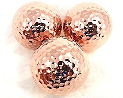 TROPHYGOLF 3 Shiny Bronze Golf Balls, Copper