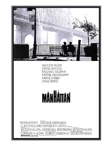 Manhattan Framed Poster - Woody Allen - Quality Black Metal