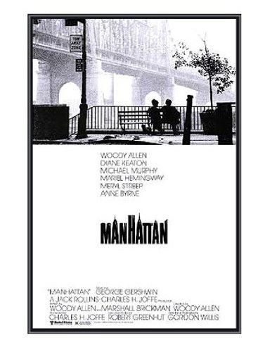 Manhattan Framed Poster - Woody Allen - Quality Black Metal