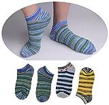 QASocks Ankle Socks 4 Pair Liner Best Cotton Socks For Men No Show Durable