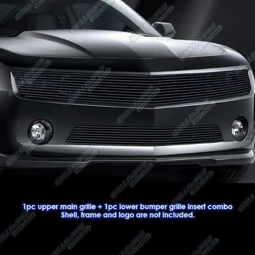 Phantom Grille Billet Insert (Fits 2010-2013 Chevy Camaro LT/LS/RS V6 Phantom Black Billet Grille Grill Insert Combo # C61027H)