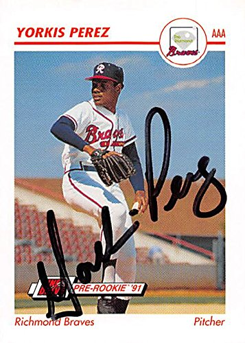 869dcc62689 Yorkis Perez autographed baseball card (Atlanta Braves) 1991 Impel Minor  League Pre Rookie