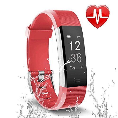 Letsfit Fitness Tracker, Activity Tracker Heart Rate Monitor Sleep Monitor, Step Counter Pedometer Watch, IP67 Water Resistant Smart Bracelet Kids Women Men by Letsfit