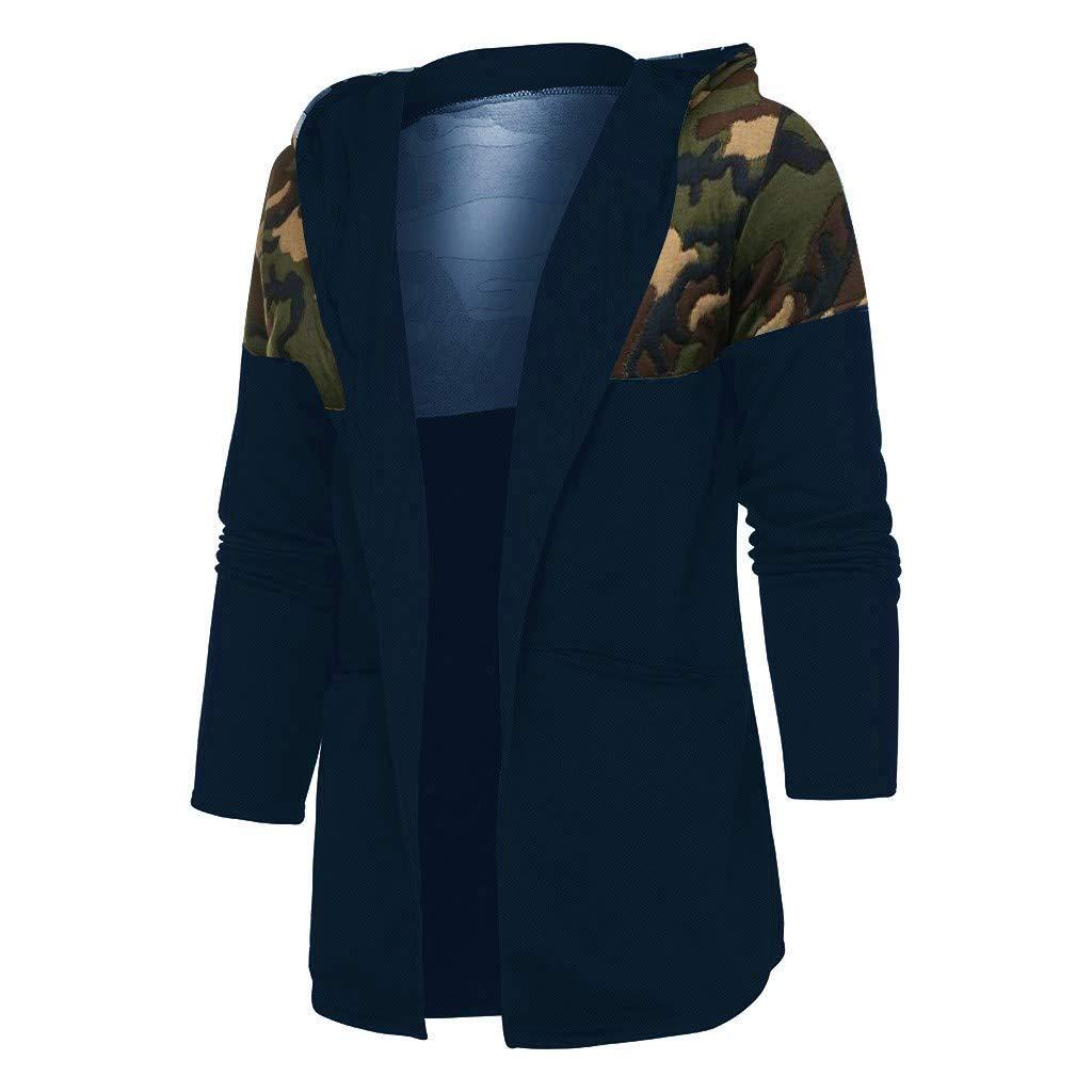 Kapuzenpullover Herren Hoodie,ABsoar Freizeit Jacke M/änner Camouflage Kapuzenpullover Langarm Pullover Bluse Outwear Slim Fit Jacken Coat Medium, Wei/ß