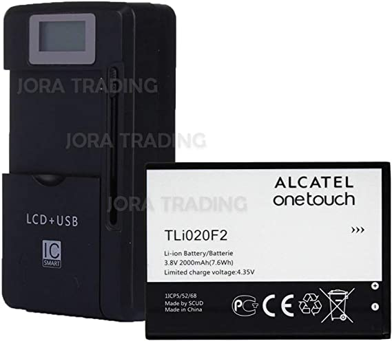 Universal Dock Home TLi020F2 Battery Charger for Alcatel OneTouch Fierce 2 7040N Cellphone