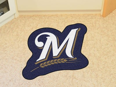 FANMATS MLB Mascot Area Rug, Milwaukee Brewers, Approx. (Milwaukee Brewers Rug)