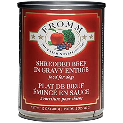 Fromm Shredded Beef in Gravy 12 Ounce Cans, Case of 12