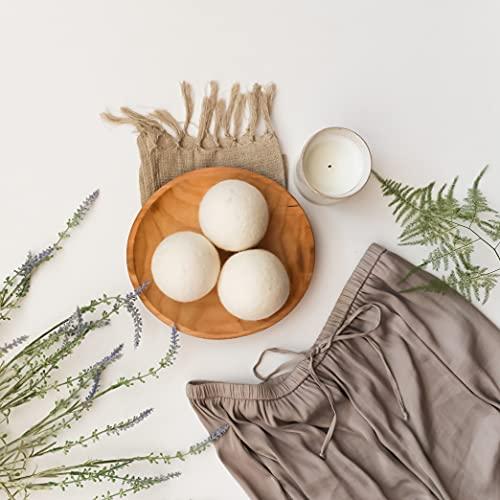 Wool Dryer Balls by Smart Sheep 6-Pack, XL Premium Reusable Natural Fabric Softener Award-Winning