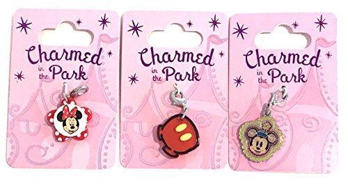Disney Parks Charmed In The Park Set of 3 Charms Mickey Minnie Mouse