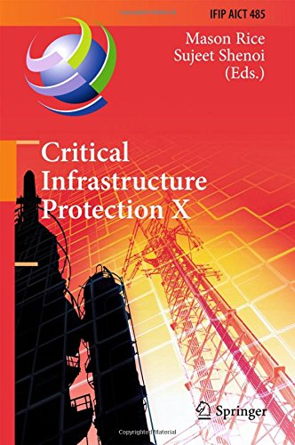 Critical Infrastructure Protection X: 10th IFIP WG 11.10 International Conference, ICCIP 2016, Arlington, VA, USA, March