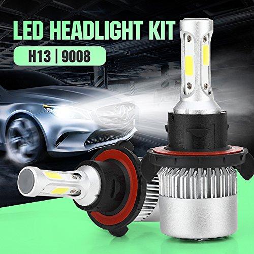 Etbotu 1 Pair H13 S2 LED Headlight Kit 4000LM/Bulb 6500K Low Beam Fog Bulb HID White ()
