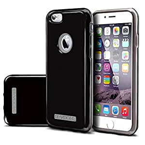 Evocel¨ iPhone 6 Plus & iPhone 6s Plus [DUO Layer Series] Slim Dual Hybrid Bumper Style Case for iPhone 6 Plus / iPhone 6s Plus (5.5 inch), Black & Gray (EVO-IPH6PLUS-HY01)
