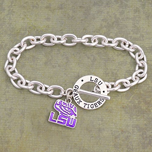 LSU TIGERS AUDREY TOGGLE BRACELET - Toggle Bracelet 7.5